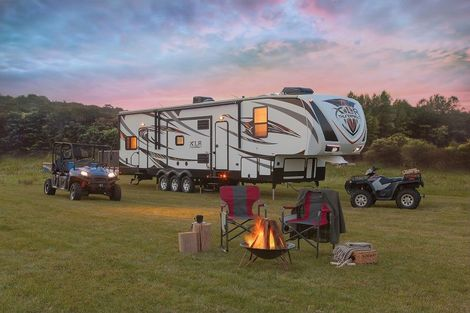 Toy Haulers Are Great For Getting Those Toys Out There In the Alberta Outdoors!  Come and See Us At No Bull RV Sales To Help You With Finding The Right Toy Hauler For You and Put Some Financing Together!  We Will Get You Camping!