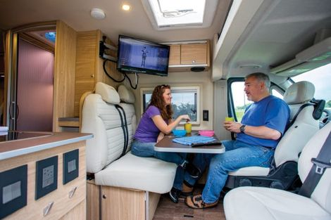 Great Versatile Interior For A Motorhome!